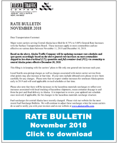 Alaska Traffic - rate bulletin
