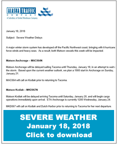 Alaska Traffic - Severe Weather Notification